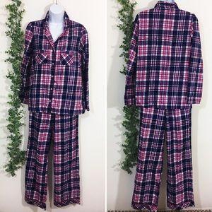 Victoria's Secret purple plaid pajama pant set